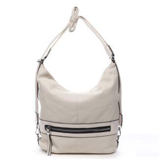 Dámská kabelka batoh světle béžová - Romina Lazy béžová
