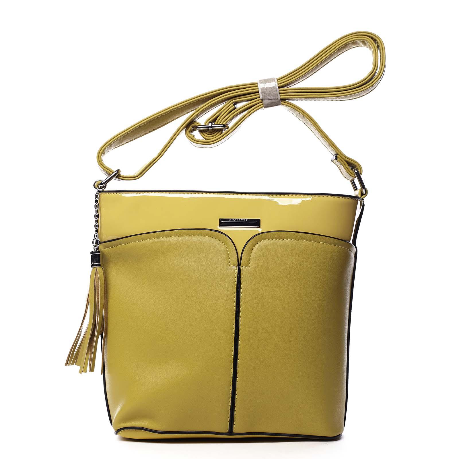Dámská crossbody kabelka žlutá - Silvia Rosa Enegmi žlutá