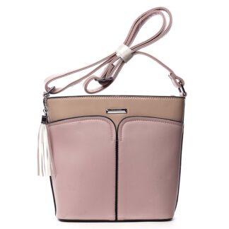 Dámská crossbody kabelka růžová - Silvia Rosa Enegmi růžová