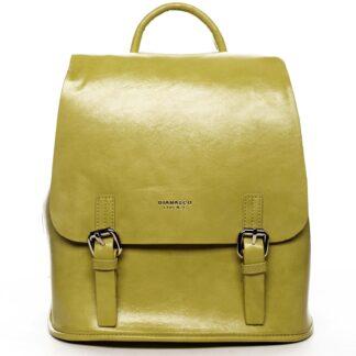 Dámský městský batoh žlutý - DIANA & CO Bretcho žlutá