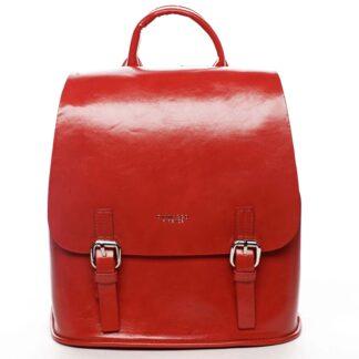 Dámský městský batoh červený - DIANA & CO Bretcho červená