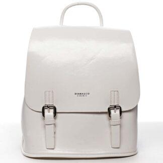 Dámský městský batoh bílý - DIANA & CO Bretcho bílá