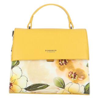 Dámská kabelka žlutá - DIANA & CO Blánica žlutá