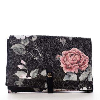Dámské květované psaníčko černé - DIANA & CO Flouw černá