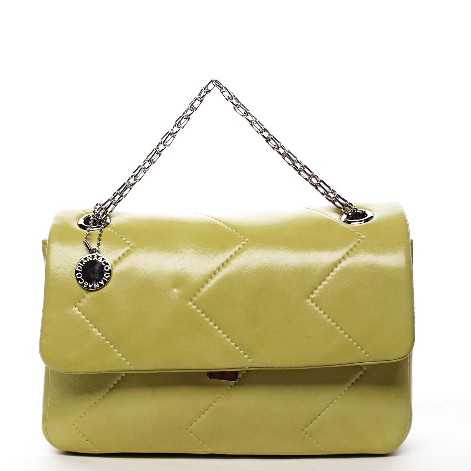 Dámská kabelka přes rameno žlutá - DIANA & CO Threethre žlutá
