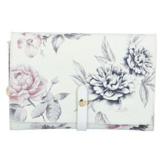 Dámské květované psaníčko bílé - DIANA & CO Flouw bílá