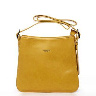 Dámská kabelka přes rameno žlutá - DIANA & CO Jiansis žlutá