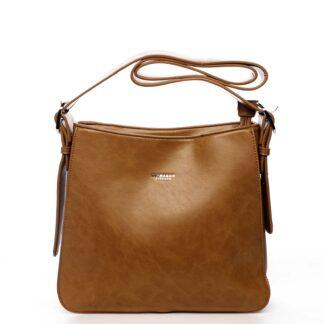 Dámská kabelka přes rameno světle hnědá - DIANA & CO Jiansis hnědá