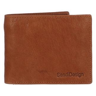 Pánská kožená peněženka světle hnědá - SendiDesign Boster hnědá