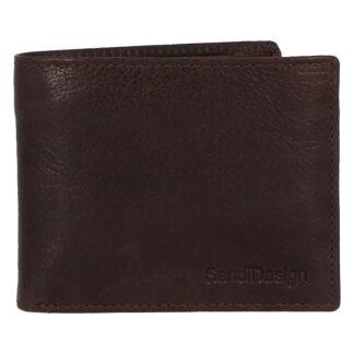 Pánská kožená peněženka hnědá - SendiDesign Boster hnědá