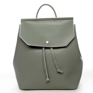 Dámský městský batoh bledě zelený - DIANA & CO Cerendinok zelená