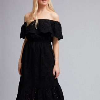 Černé šaty s madeirou Dorothy Perkins