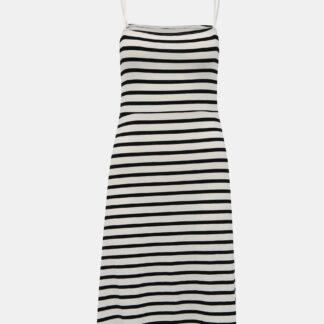 Bílo-černé pruhované šaty Noisy May Summer
