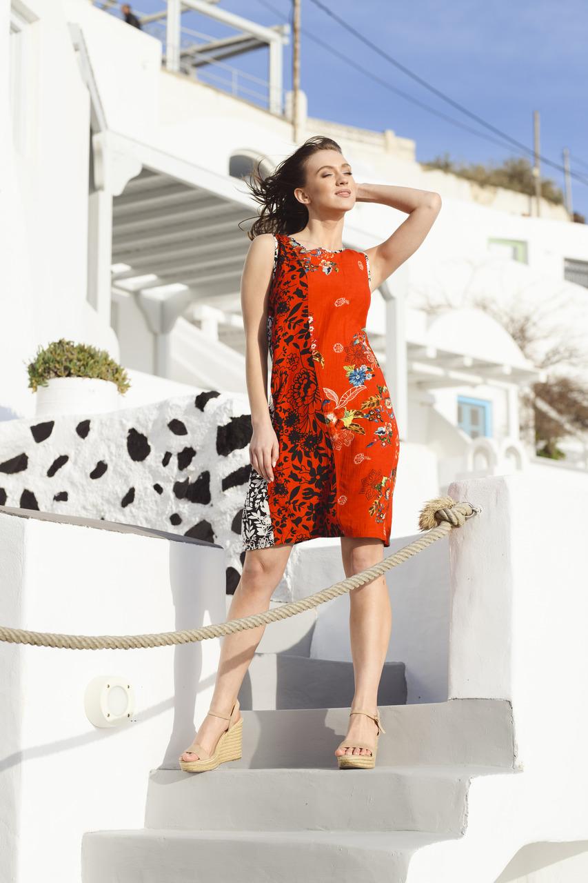 Orientique červené šaty Pergamon
