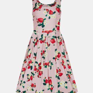 Růžové květované šaty Dolly & Dotty