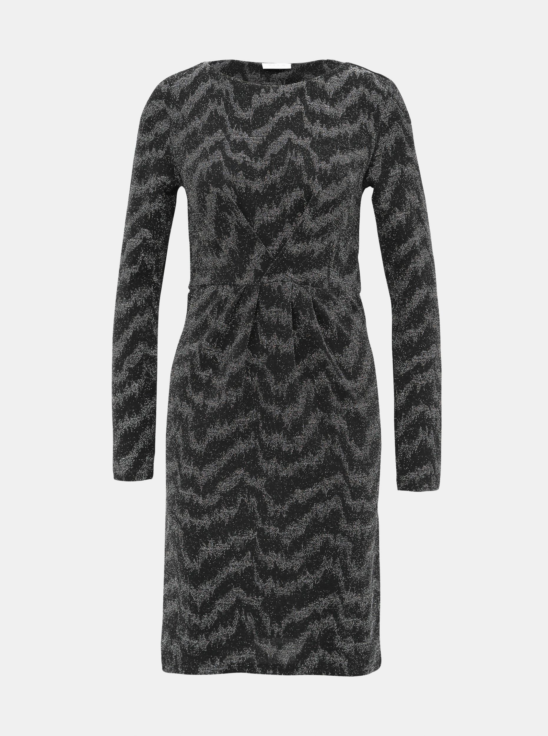 Černé třpytivé šaty VILA Wipy