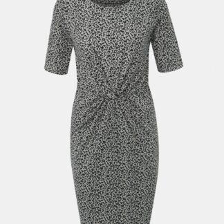 Šedé pouzdrové šaty s leopardím vzorem VILA Flet