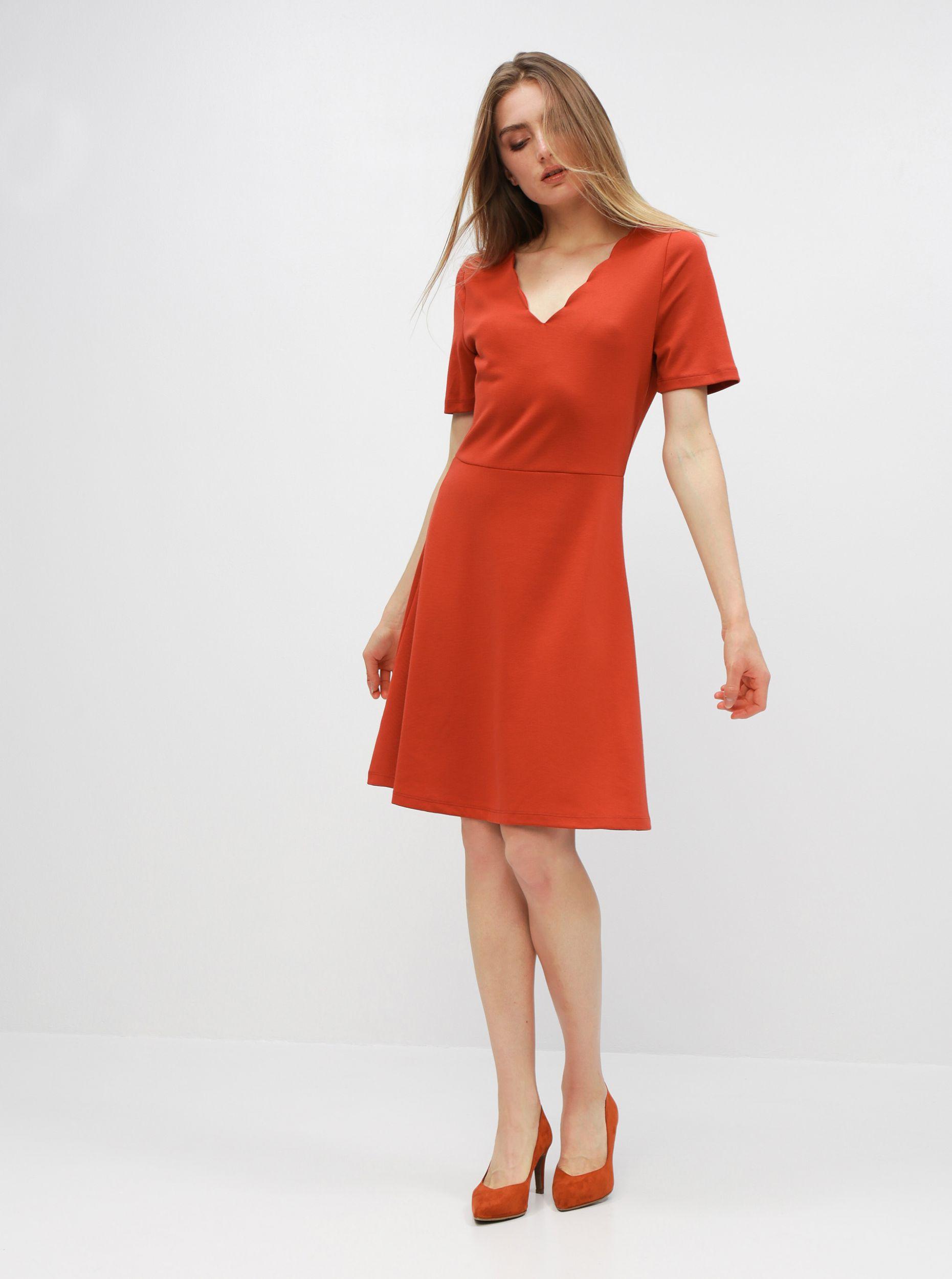 Cihlové šaty VILA Rylie