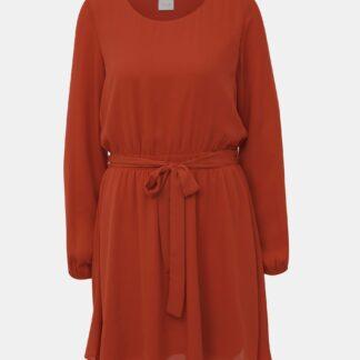 Cihlové šaty VILA Lucy