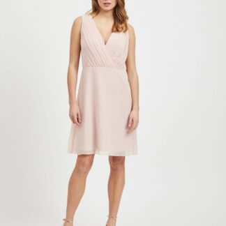 Světle růžové šaty VILA Alli
