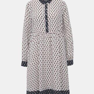 Krémové vzorované košilové šaty VILA Kit