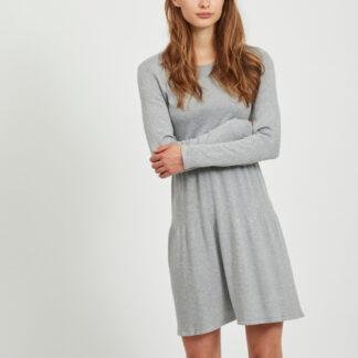 Šedé šaty VILA Bolonsia