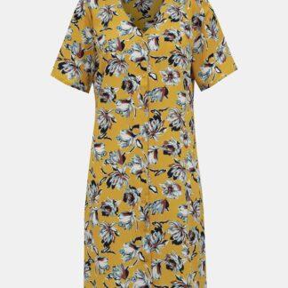 Hořčicové květované šaty Jacqueline de Yong Win