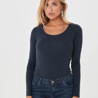 Tmavě modré basic tričko Jacqueline de Yong Ava