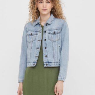Světle modrá džínová bunda se vzorem na zádech Jacqueline de Yong