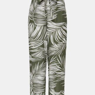 Khaki vzorované kalhoty ONLY Augustina