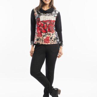Orientique barevné tričko Pisa s límečkem