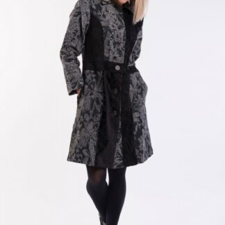 Orientique šedý kabát Coat Collared Black