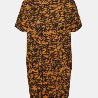 Oranžové vzorované volné šaty Noisy May Cille