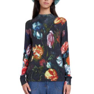 Desigual svetr s květy Jers Treviso