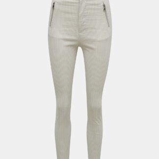 Krémové pruhované skinny fit kalhoty TALLY WEiJL