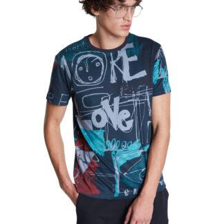 Desigual modré pánské tričko TS Ian
