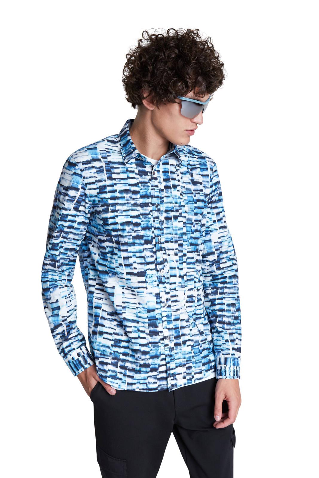 Desigual modro-bílá pánská košile Cam Adel