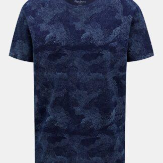 Tmavě modré pánské vzorované tričko Pepe Jeans