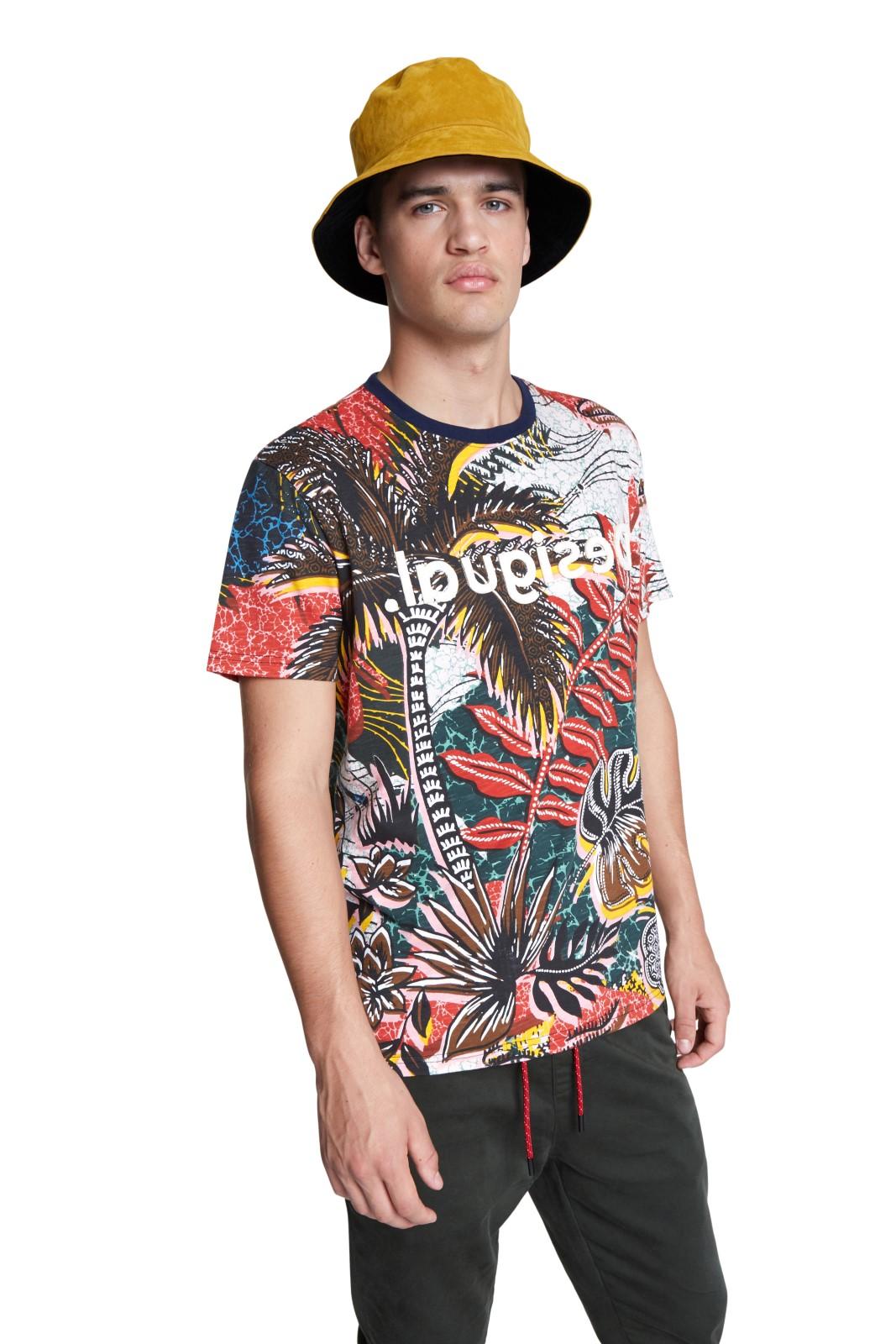 Desigual barevné pánské tričko TS Abel s logem