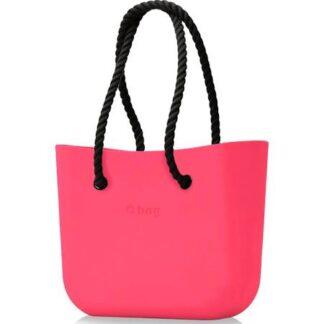 O bag kabelka Amaranto s černými provazovými držadly