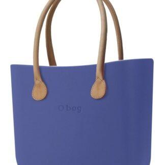 O bag kabelka Cobalto s dlouhými koženkovými držadly natural