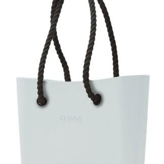 O bag kabelka Polvere s černými dlouhými provazy