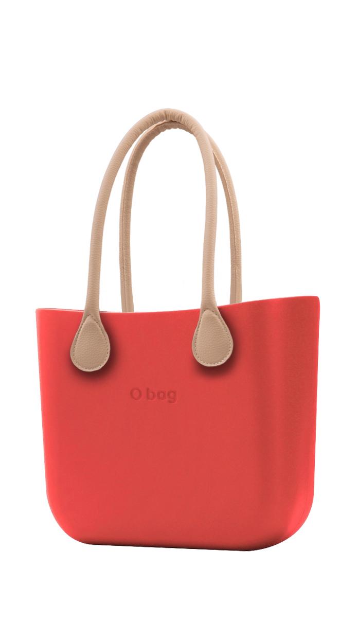 O bag kabelka Fragola s dlouhými koženkovými držadly natural