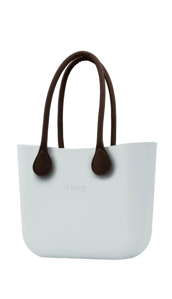 O bag kabelka Polvere s hnědými dlouhými koženkovými držadly