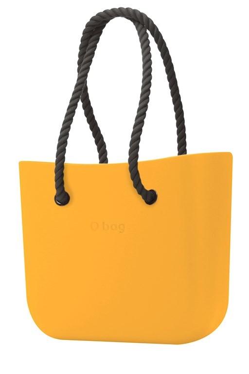 O bag kabelka Becco Doca s černými dlouhými provazy