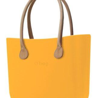 O bag kabelka Becco Doca s dlouhými koženkovými držadly natural