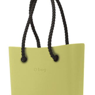 O bag kabelka Celery Green s černými dlouhými provazy