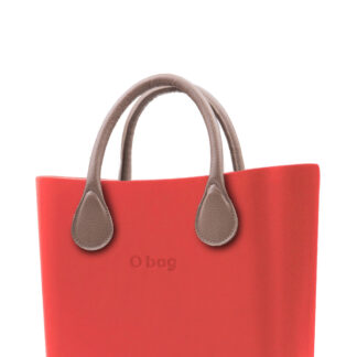 O bag kabelka MINI Fragola s krátkou koženkou Tortora