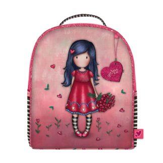 Santoro červený malý batoh Gorjuss Sparkle&Bloom Love Grows