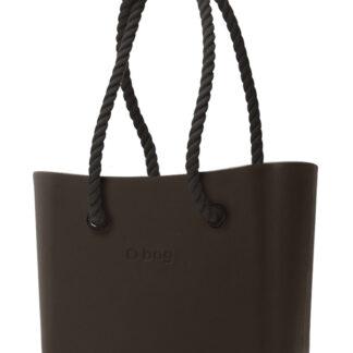 O bag kabelka MINI Testa di Moro s černými dlouhými provazy